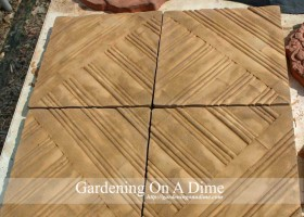 DIY Concrete Bamboo Pavers
