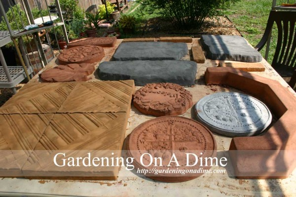 DIY Garden Stepping Stones And Pavers