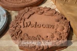DIY Concrete Welcome Paver