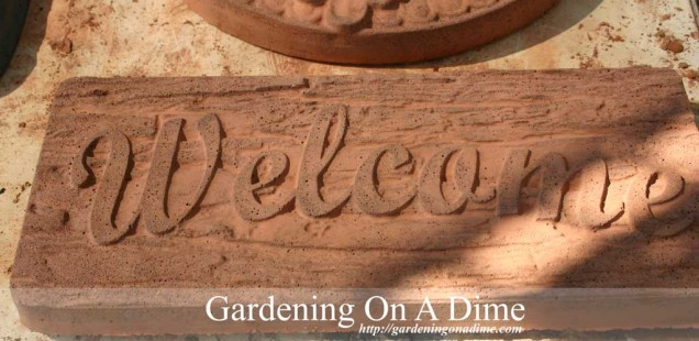 DIY Concrete Welcome Plaque