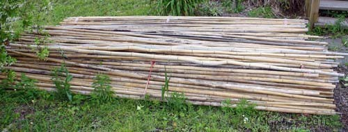 Free Stack of Bamboo Poles