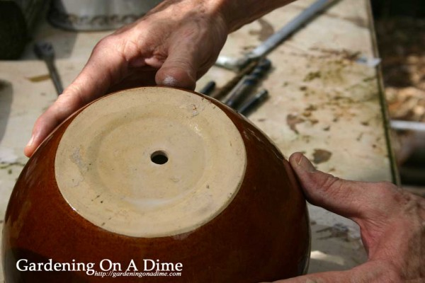 DIY Ceramic Pot Drain Hole