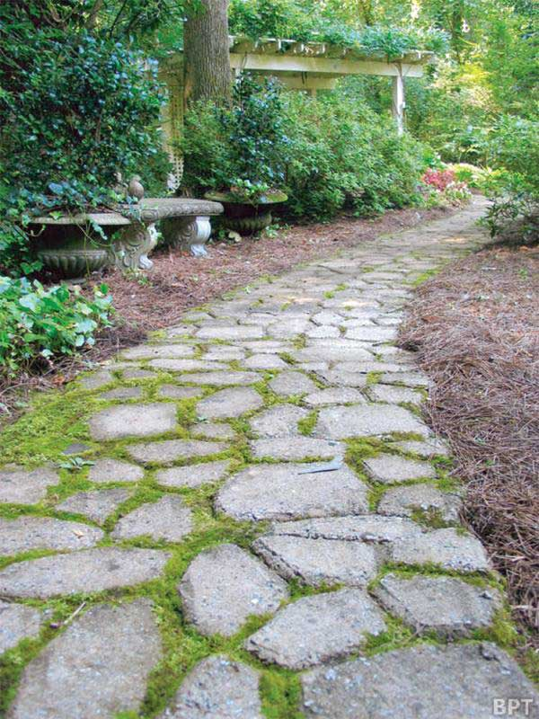 How to create garden walkways for Cement garden paths