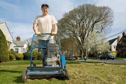 Lawn Dethatching Machine